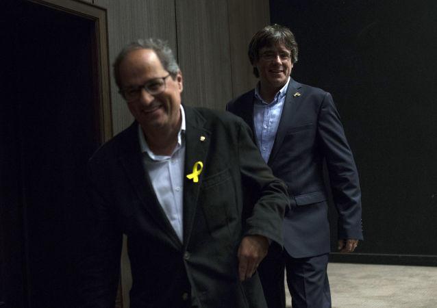 Carles Puigdemont y Quim Torra (archivo)