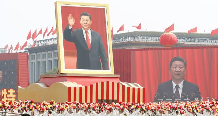 Xi Jinping, el presidente chino durante el 70 aniversario de la fundación de la República Popular China