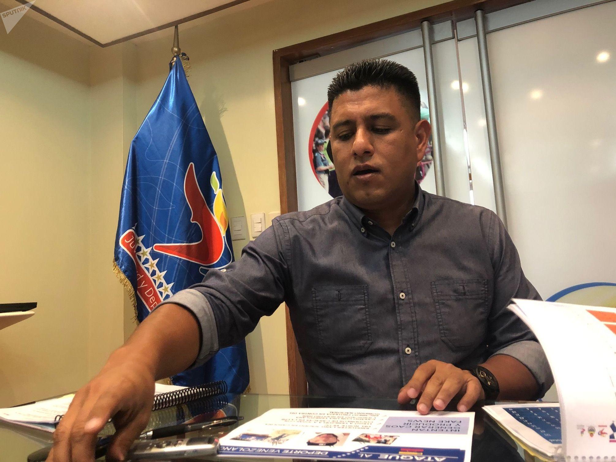 Pedro Infante, ministro de Deporte de Venezuela