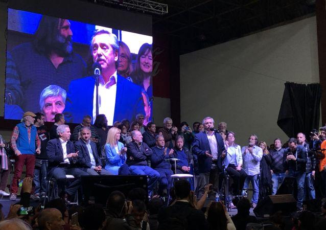Alberto Fernández, líder opositor argentino
