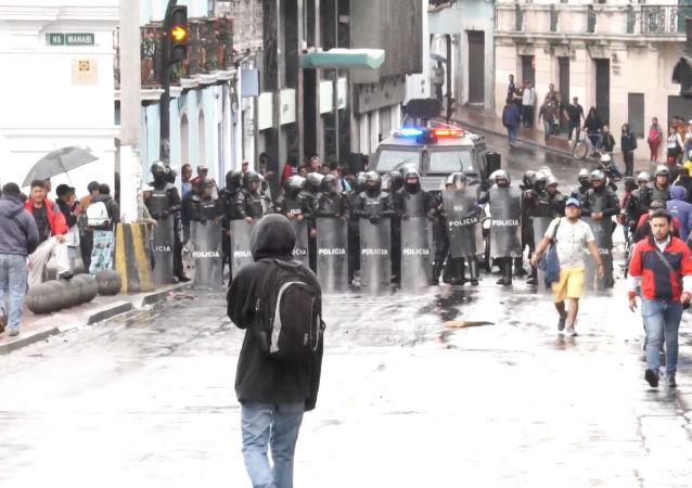Protestas masivas en Ecuador contra las medidas económicas del Gobierno