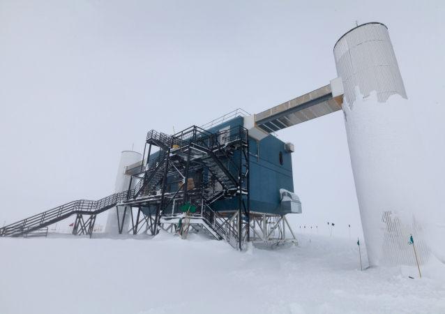 El laboratorio IceCube en la Antártida (archivo)