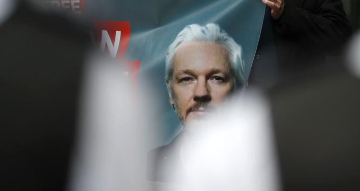Retrato de Julian Assange, fundador de Wikileaks