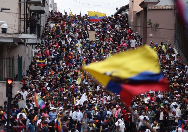 Movilizaciones contra el Gobierno de Lenín Moreno en Quito, Ecuador