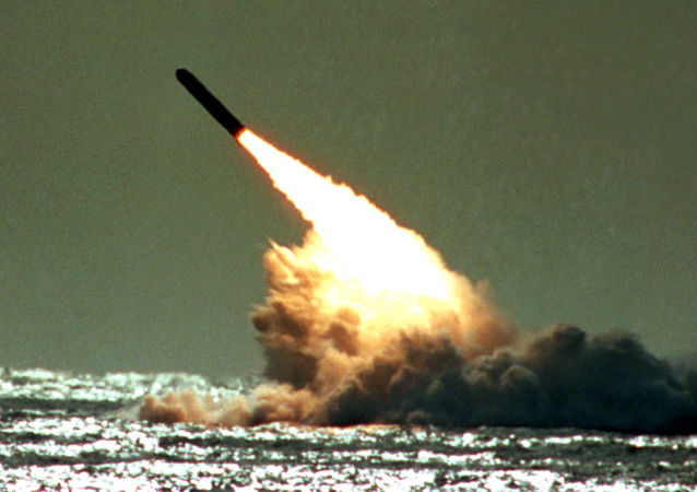 Lanzamiento de misil balístico de EEUU (archivo)