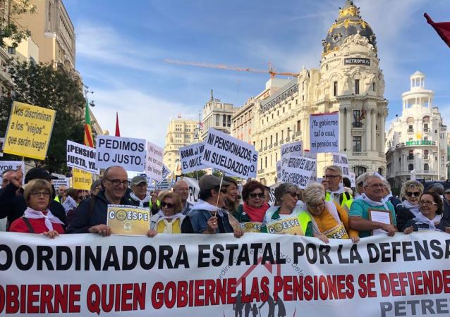 Protestas de jubilados en Madrid