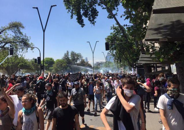 Protestas en Chile (archivo)