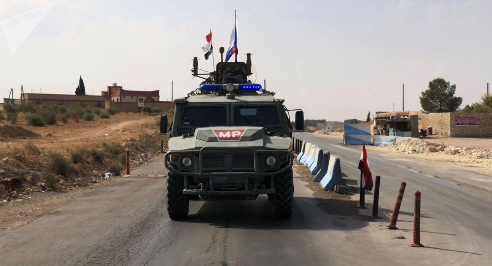 Los militares rusos en Siria durante el patrullaje (archivo)