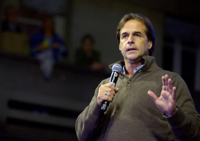Luis Lacalle Pou, candidato por el Partido Nacional en las elecciones generales de Uruguay