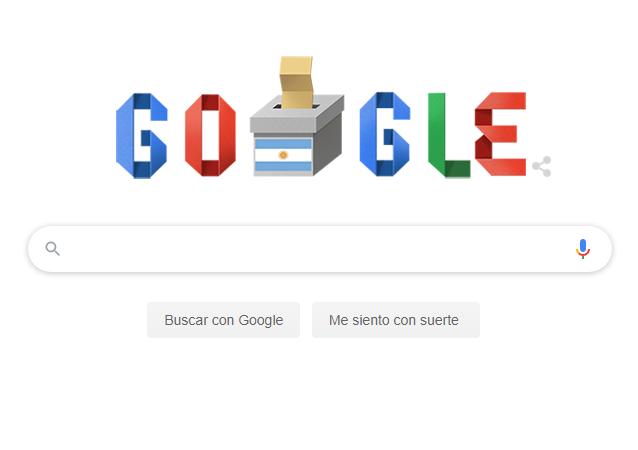 Google dedica un 'doodle' a las elecciones argentinas