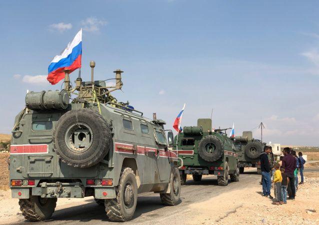 Blindados rusos en Siria