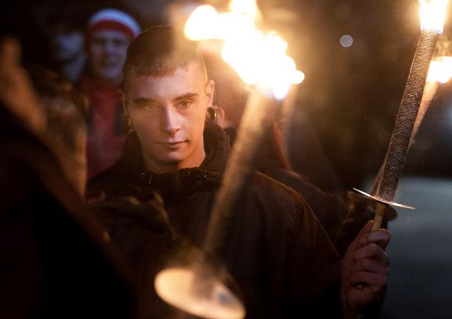 Una protesta de Pegida, foto de archivo