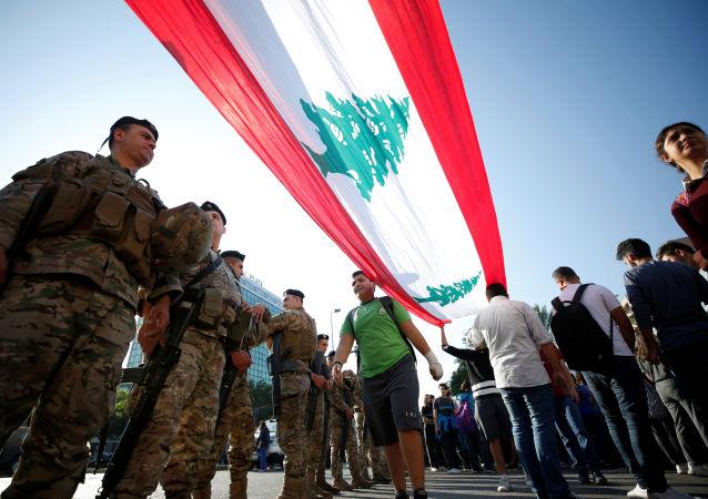 La bandera del Líbano