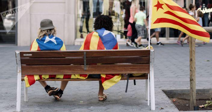 Las banderas independentistas de Catalonia