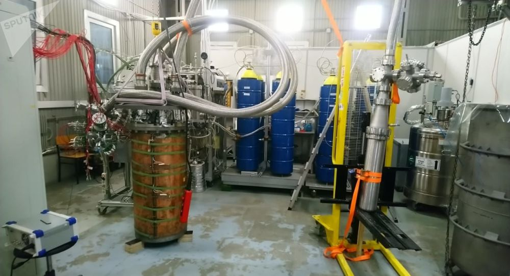 Detector RED 100 elaborado en el laboratorio de física experimental de la MEPhI