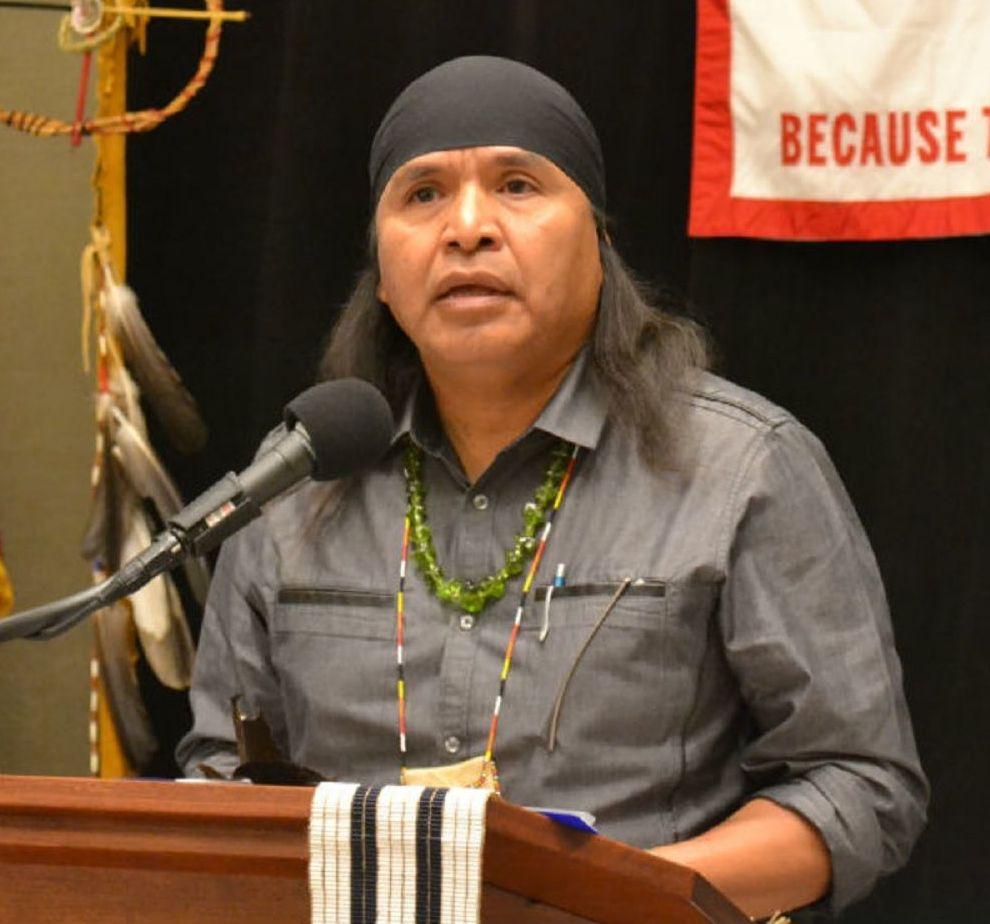 Wendsler Nosie, líder tribal de los apache de San Carlos