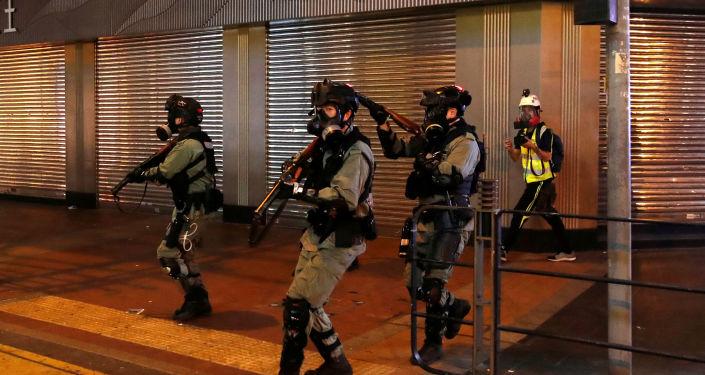Agentes de policía de Hong Kong