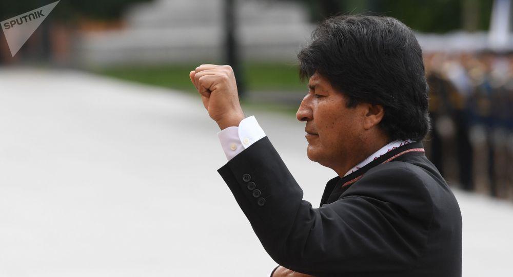 Evo Morales durante su visita a Moscú