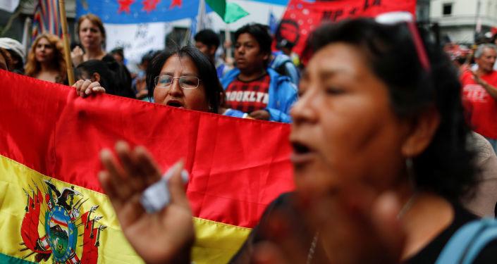 Protestas en Bolivia