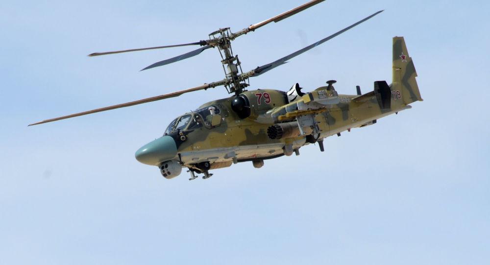 Un helicóptero ruso en Siria
