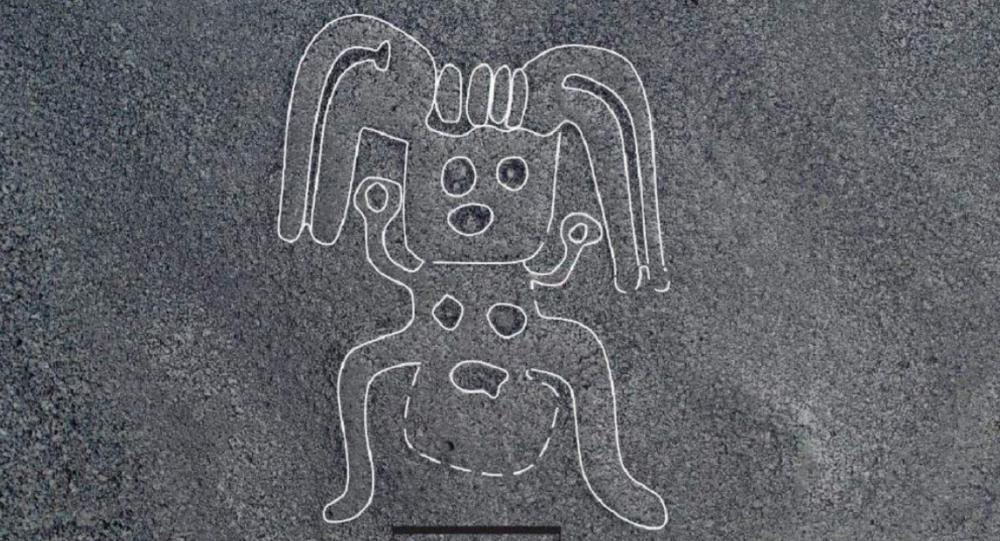 Uno de los geoglifos hallados por los investigadores japoneses