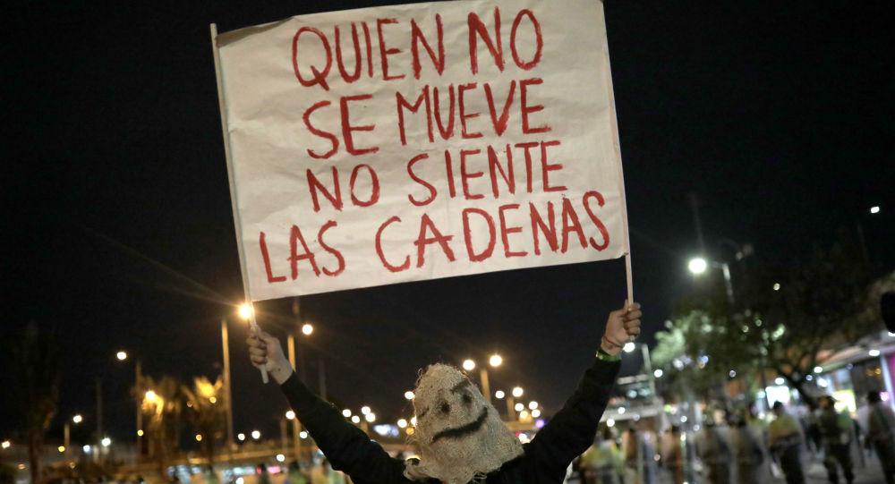 Una manifestante durante las marchas estudiantiles por más presupuesto para la educación