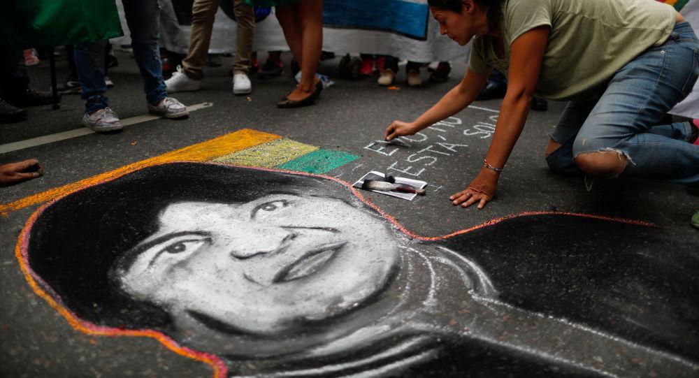 Manifestación en Buenos Aires en apoyo a Evo Morales