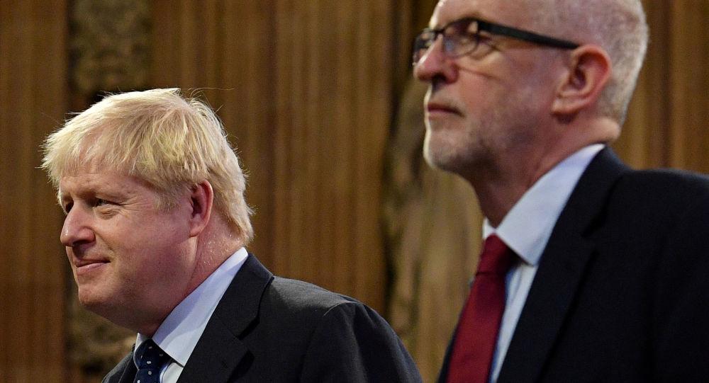 El primer ministro británico, Boris Johnson, y su contrincante laborista, Jeremy Corbyn (archivo)