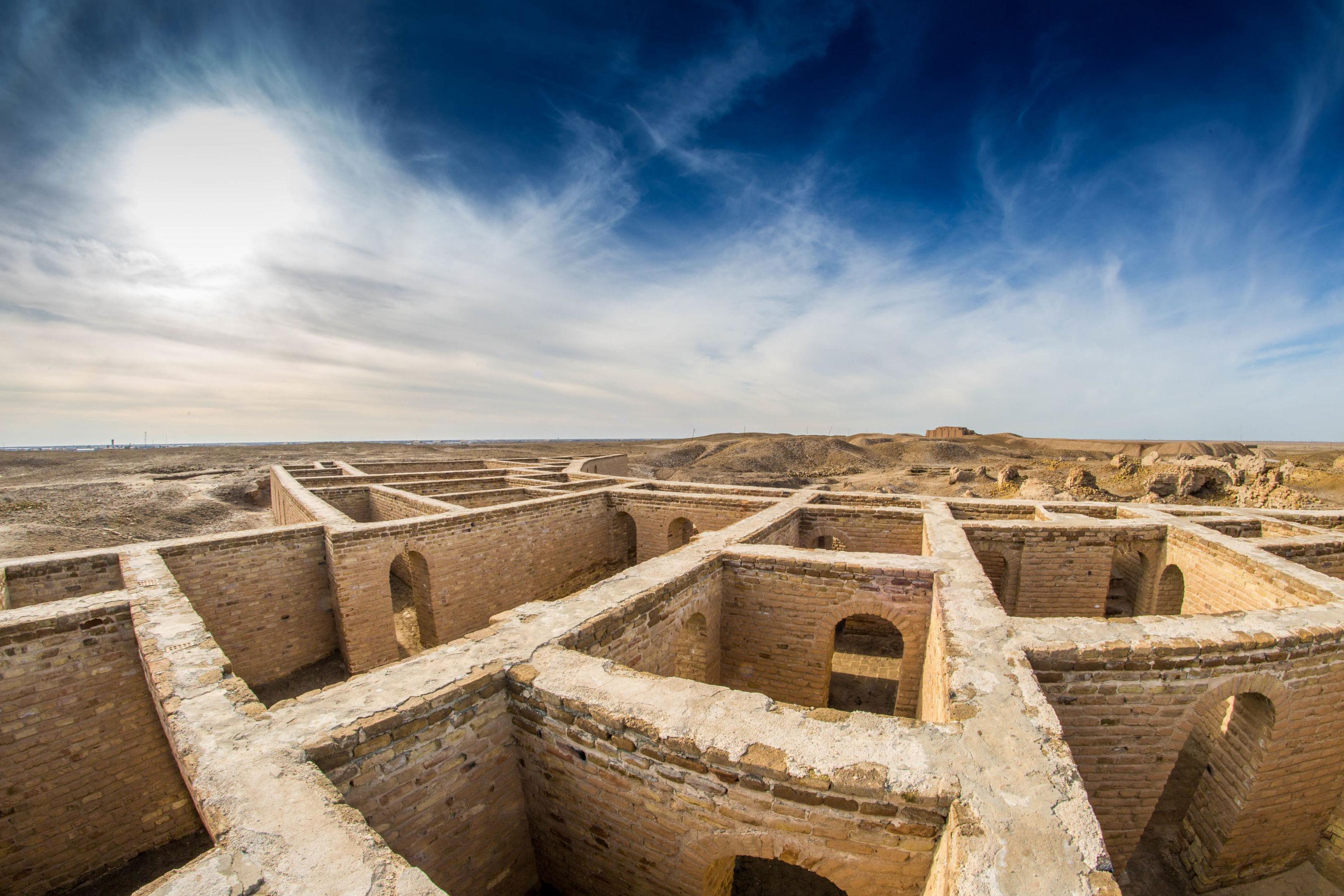 La antigua ciudad mesopotámica de Ur, en la actual Irak