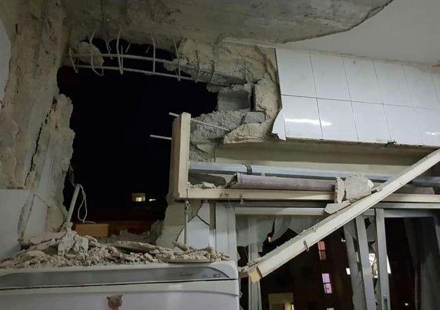 Una casa destruida tras los ataques israelíes en Damasco