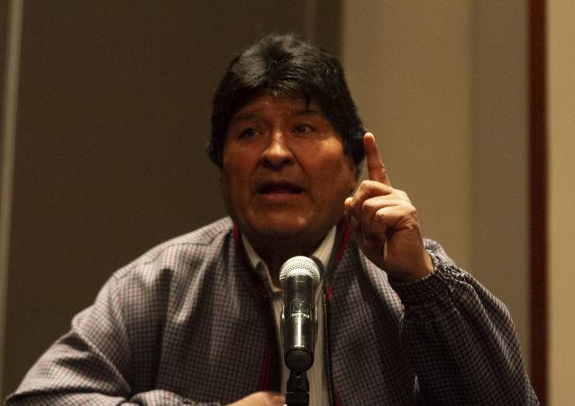 Evo Morales ofrece una rueda de prensa en Ciudad de México, el 20 de noviembre de 2019
