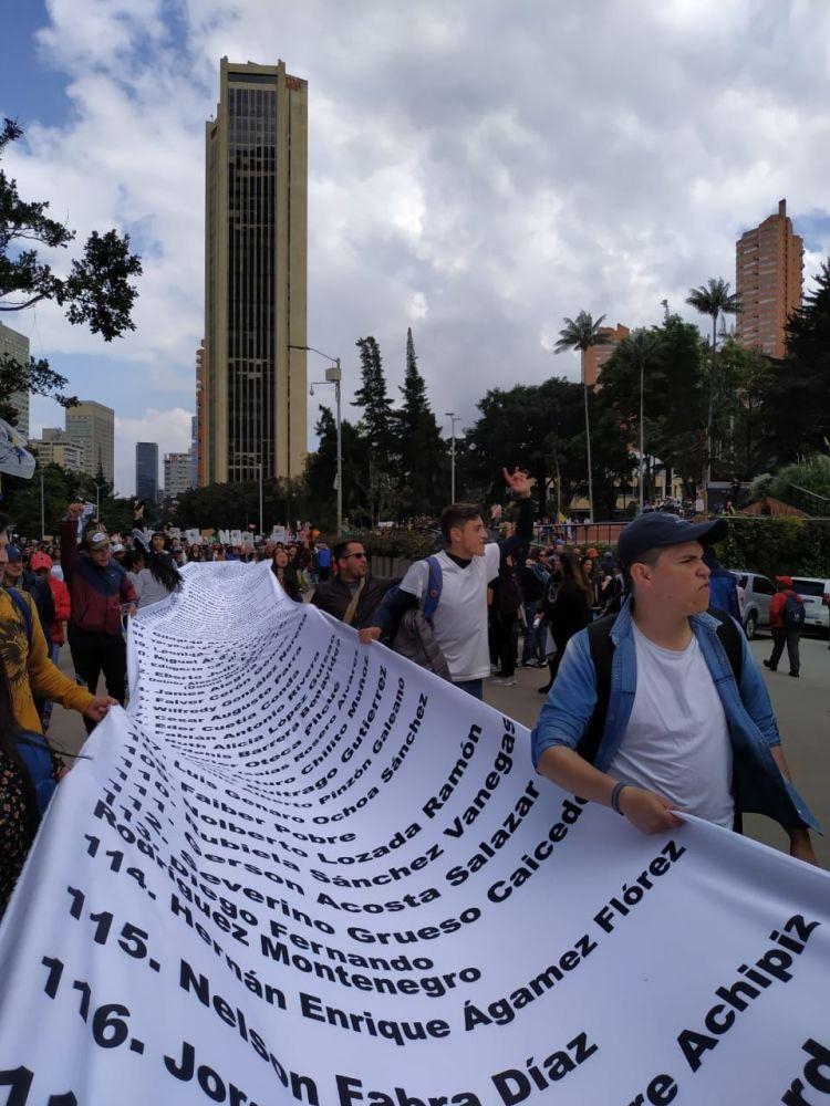 Colombianos salieron a las calles para protestar en contra del Gobierno de Iván Duque
