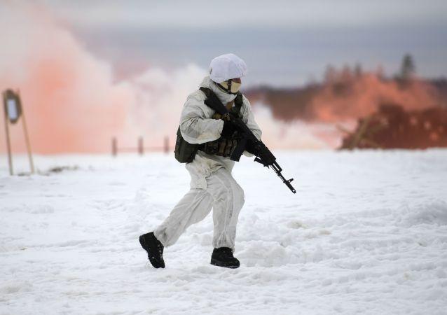 Fuerzas especiales rusas en Siberia (archivo)