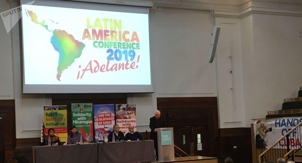 Sesion inaugural de la Conferencia Latinoamerica, presidida por Bernard Regan
