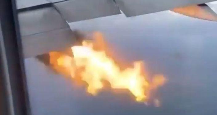 Pompaje de un motor de avión