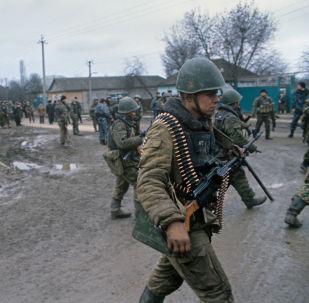 Soldados rusos en Chechenia