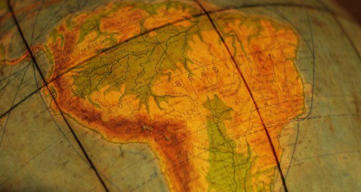 Mapa de Suramérica. Imagen referencial
