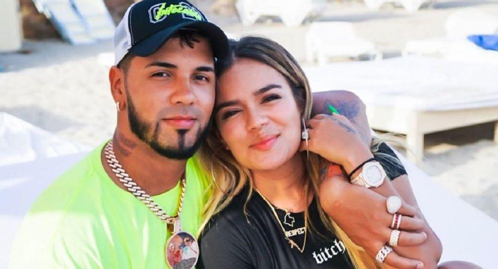 La pareja de cantantes Anuel y Karol G