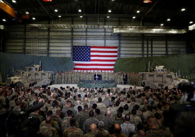 El presidente de EEUU, Donald Trump, en la Base Aérea de Bagram en Afganistán