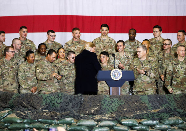 El presidente de EEUU, Donald Trump en Afganistán
