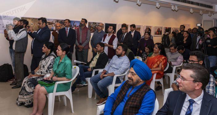 La exposición de fotos de ganadores del concurso Andréi Stenin 2019 en Nueva Delhi