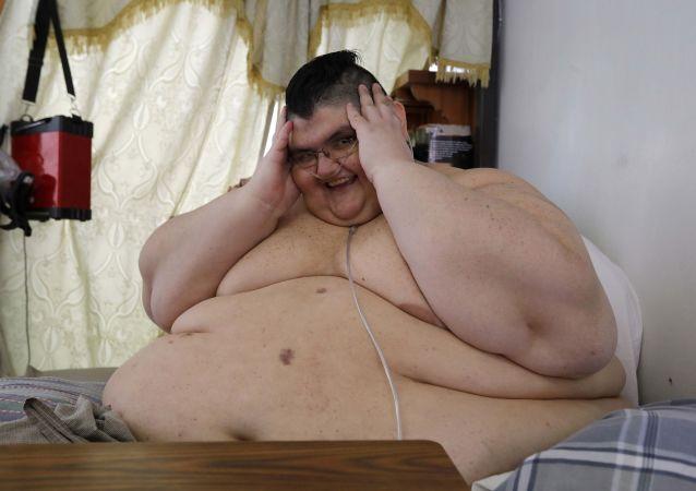 Juan Pedro Franco, mexicano considerado como el hombre más gordo del mundo (2017)
