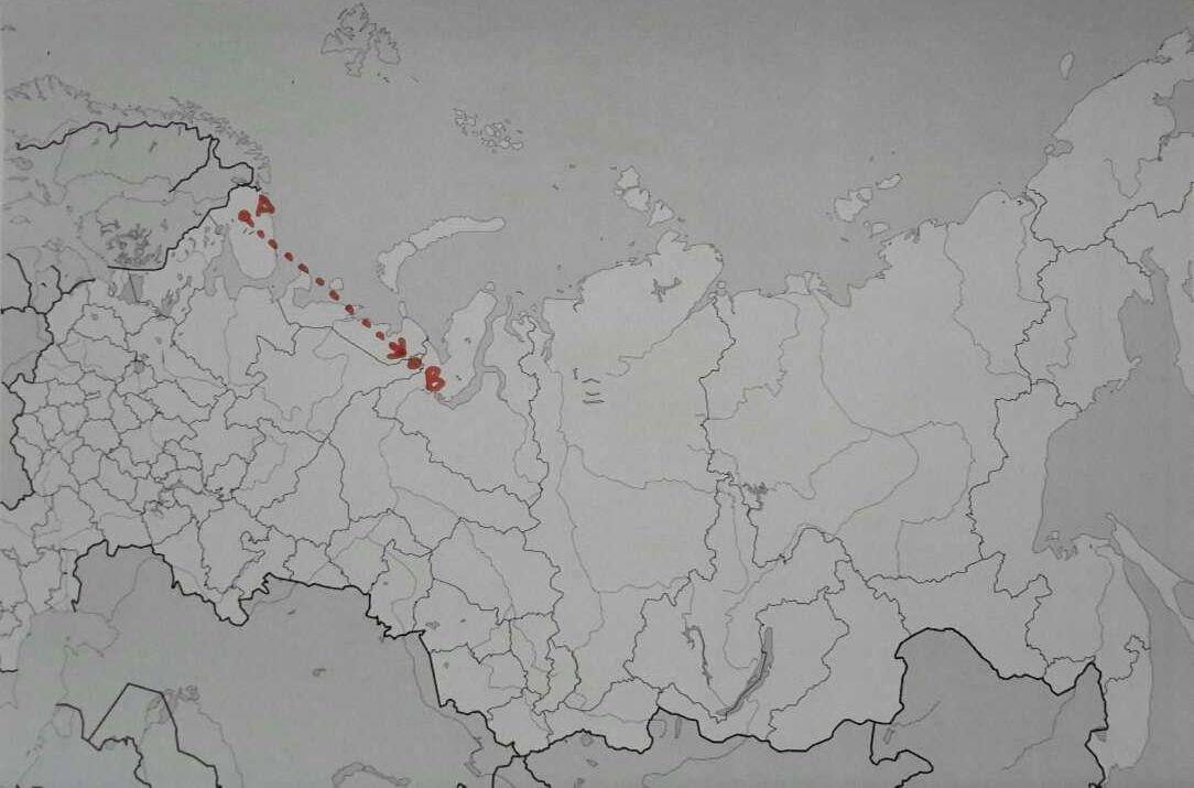 El trayecto desde Olenegorsk en la región de Múrmansk hasta el polígono militar de Pemboi en la república de Komi