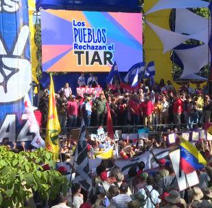 Los venezolanos muestran su rechazo a las sanciones del TIAR