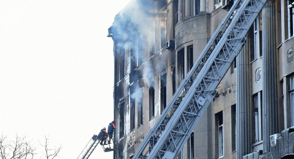 Incendio en un instituto de Odesa, Ucrania