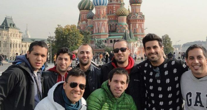 Integrantes de Agarrate Catalina en Moscú