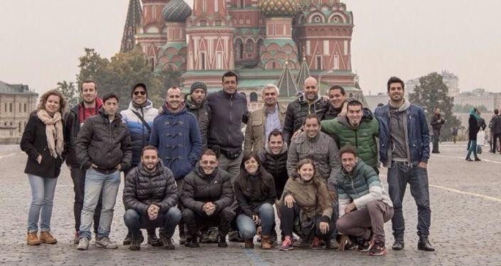 Agarrate Catalina en la Plaza Roja de Moscú