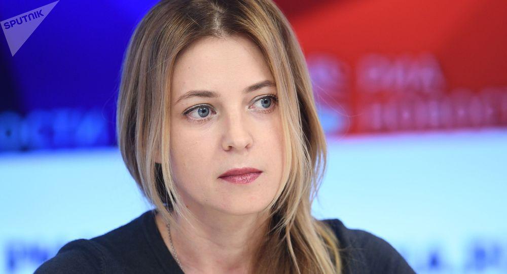 Natalia Poklónskaya, vicepresidenta de la comisión de asuntos internacionales de la Duma Estatal (Cámara Baja rusa)