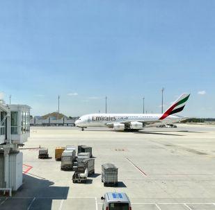 Un avión de la aerolínea Emirates