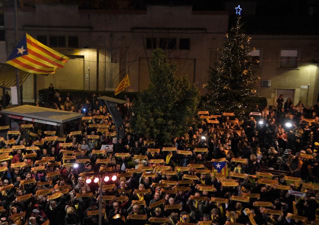 Protestas en Barcelona durante la temporada de Navidad (archivo)